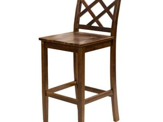 Naples Acacia 26 inch Wood Counter Stool  Set of 2  by Christopher Knight Home Retail 165 49