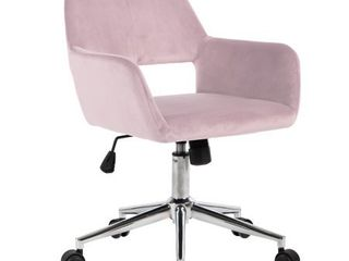 Porch   Den Sabrina Velvet Home Office Swivel Chair  Retail 146 99