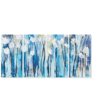Ink Ivy Ocean Breeze Blossom 4 Pc  Gel Coated Canvas Print Set
