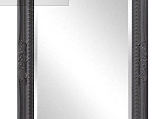 Howard Elliot Wall Mirror   Charcoal Frame