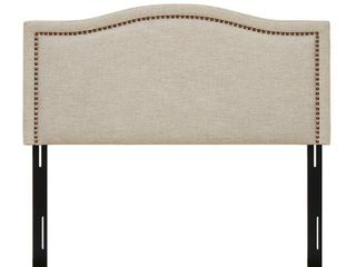 Augusta linen Upholstery Headboard by Madison Park   King