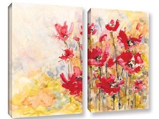 ArtWall Karin Johannesson  Wildflowers Ii  2 Piece Gallery wrapped Canvas Set Retail 92 99