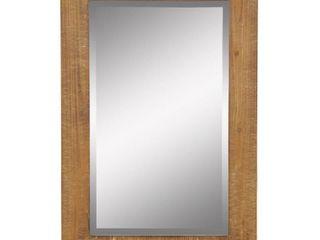 Morris Wood Framed Wall Mirror   Nutmeg
