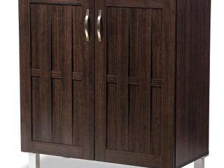 Contemporary Dark Brown Storage Cabinet