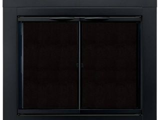 Pleasant Hearth AN 1012 Alpine Fireplace Glass Door  Black  large
