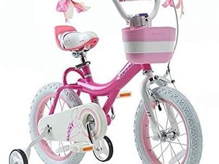 Royalbaby Girls Bike Jenny 12 Inch Girl s Bicycle With Training Wheels Basket Child s Cycle Pink
