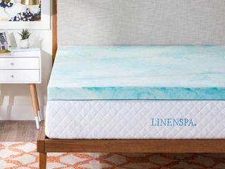 linenspa 3 Inch Gel Swirl Memory Foam Topper Full