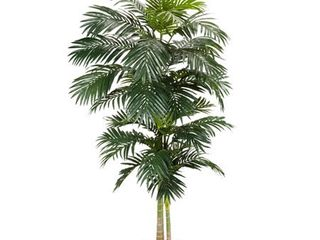 Nearly Natural 5326 8ft  Golden Cane Palm Silk Tree Green
