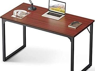 Coleshome Computer Desk 47  Modern Simple Style Desk for Home Office  Sturdy Writing Desk Teak