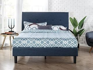 Zinus Omkaram Upholstered Platform Bed With Wood Slat Support Queen