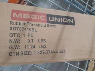 Rubber threshold ramp
