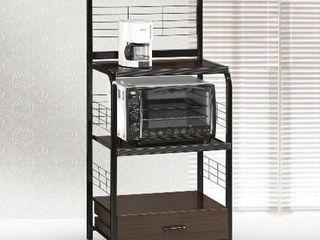 Crown Mark Kitchen Shelf  Black