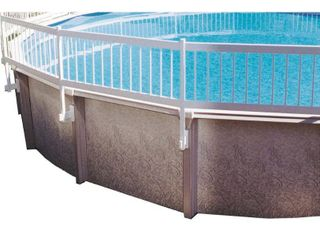 GlI Above Ground Pool Fence Kit   White