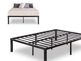 Zinus Quick lock 14 Inch Metal Platform Bed Frame  Mattress Foundation  No Box Spring Needed  Queen