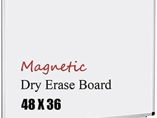 XBoard Magnetic Whiteboard 48 x 36  White Board 4 x 3  Dry Erase Board with Detachable Marker Tray