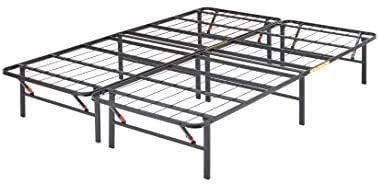 Amazonbasics Foldable  14  Metal Platform Bed Frame With Tool free Assembly