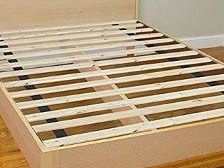 Greaton 0 75 Inch Standard Mattress Support Wooden Bunkie Board Slats  Full  Beige
