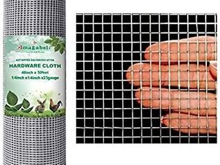 Amagabeli 48x50 Hardware Cloth 1 4 inch Square Galvanized Chicken Wire Welded Fence Mesh Roll Raised Garden Bed Plant Supports Poultry Netting Cage Wire Snake Fence