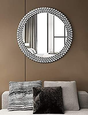 luxury large Round Wall Mirror Decorative   40  X 40  Circle Wall Mirror for Decor Fireplace Bedroom livingroom
