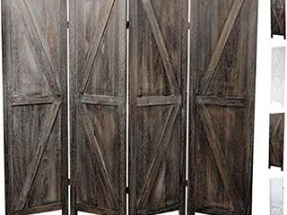 Premium Home Room Divider  Room dividers and Folding Privacy Screens  Privacy Screen  Partition Wall dividers for Rooms  Room Separator  Temporary Wall  Folding Screen  Rustic Barnwood  Barnwood