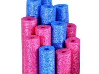 Pool Mate Premium Swimming Pool Noodles  Blue and Pink 12 Pack