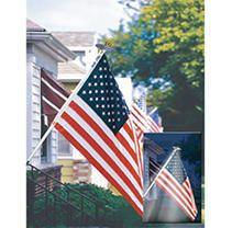 Annin Flagmakers Mansion Flag Set with Solar light  6 Feet