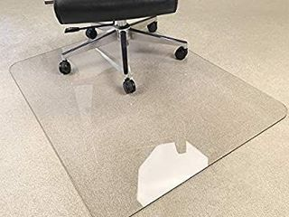 Upgraded Version  Crystal Clear 1 5  Thick 47  x 35  Heavy Duty Hard Chair Mat  Can be Used on Carpet or Hard Floor