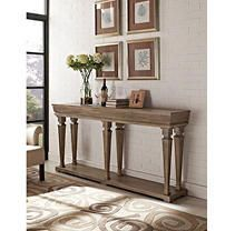 Powell Benjamin Console Table  Driftwood Finish