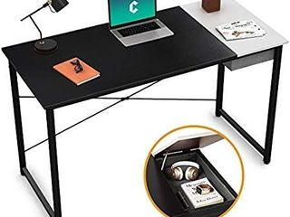 Cubiker Computer Desk 47  Home Office Writing Study laptop Table  Modern Simple Style Desk with Drawer  Black Espresso