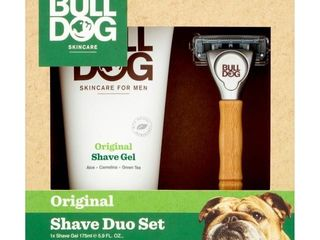 Bulldog Original Skincare For Men Shave Duo Set Shave Gel And Bamboo Razor