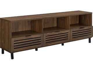 70 inch Slat Door TV Stand Console in Dark Walnut