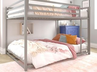 DHP Miles Metal Full Over Full Bunk Bed  Silver