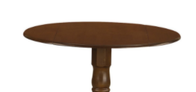 Dublin Round Table With 2 Drop leaves  Cherry  legs Not Included   44in x 26 7in x 3 1in