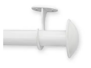Pinnacle White Metal Outdoor Curtain Rod