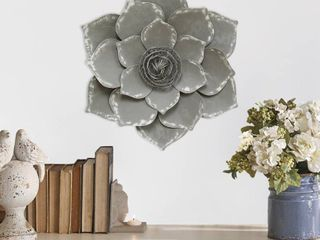 Stratton Home Decor Grey lotus Wall Decor