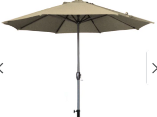 North Bend 9 Foot Crank Open Auto Brown Umbrella