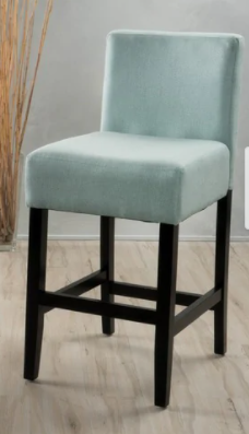lopez 26 in fabric counter stool set  light green