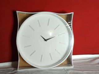 White Sophisticated Clock