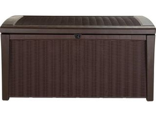 Brown Keter Rattan Effect large Garden Storage Box