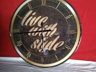 live With Style Wall Clock Gold and Black