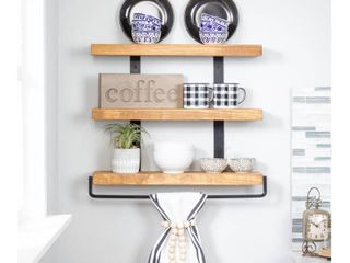 Del Hutson Designs Industrial Grace Three Tier Floating Shelves Retail 86 49