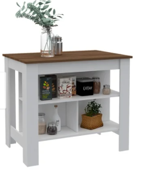 Carson Carrington Vannasberget Kitchen Island White light Tan Wood Retail 223 99