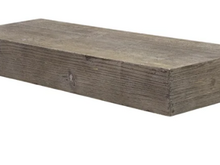 The Gray Barn Haven Rustic Wood Floating Wall Shelf  Small