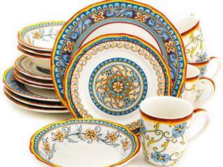 Euro Ceramica Duomo 16 Piece Dinnerware Set