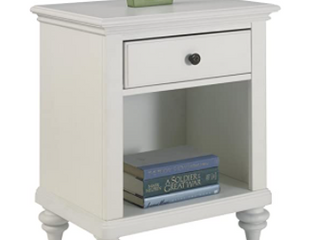 Ramuda Brushed White Nightstand