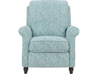 Prolounger Blue Coral Woven Fabric Push Back Recliner Chair  Sky Blue   Creamy White Coral
