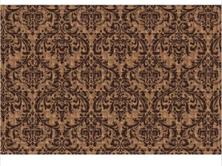 Indoor Outdoor Damask Doormat 24x36