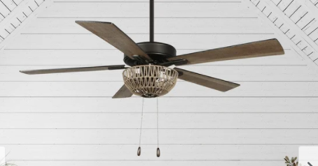 Curated Nomad Carolyn 52 in woven Ceiling Fan