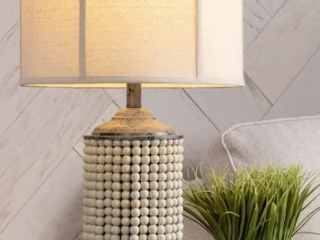 Astrid 28 5 inch beaded table lamp