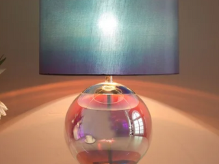Arctic ORG Iridescent Chrome Table lamp